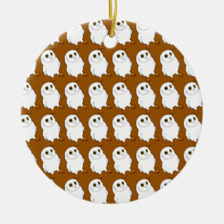 Owl Pattern Ceramic Ornament