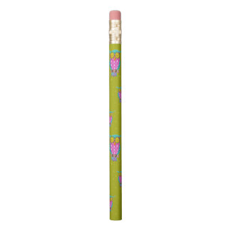 Owl pattern classroom pencil