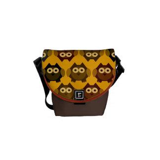 owl pattern commuter bags