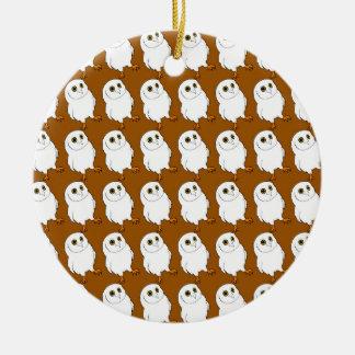 Owl Pattern Round Ceramic Decoration