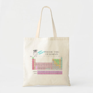 Owl Periodic table of elements Budget Tote Bag