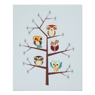 Owl Pine for You Poster