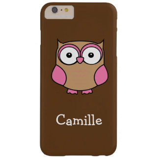 Owl Pink and Tan Barely There iPhone 6 Plus Case