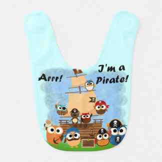 Owl Pirates Bib