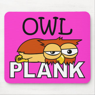 Owl Plank Mouse Pad