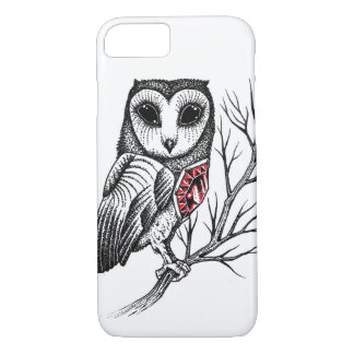 Owl Pointillism Style - Iphone 8/7 Case