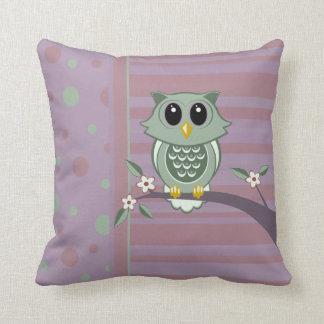 Owl Polka Dot Stripe Pattern American MoJo Pillows