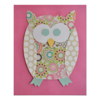 Owl Print for baby nursery or childs room
