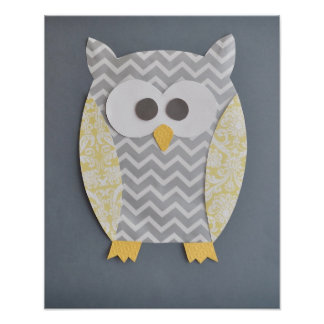 Owl Print for baby s nursery or child s bedroom