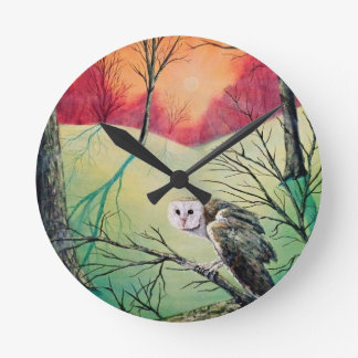 """Owl Products featuring """"Soren: Owl of Ga' Hoole"""" Round Clock"""
