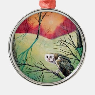 """Owl Products featuring """"Soren: Owl of Ga' Hoole"""" Silver-Colored Round Decoration"""