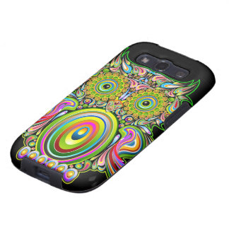Owl Psychedelic Design Samsung Galaxy Cases Samsung Galaxy S3 Cover