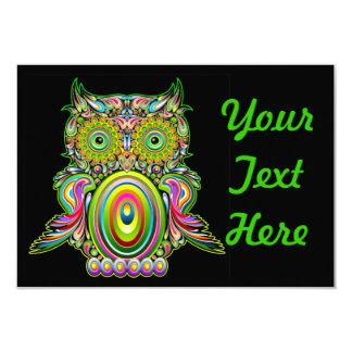 Owl Psychedelic Popart Invitation