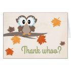 Owl Pumpkin Baby Shower Thank You Card