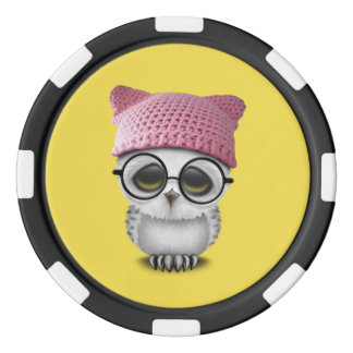 owl pussy hat poker chips