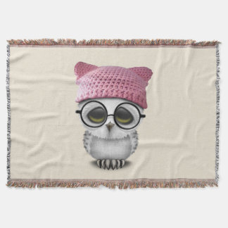 owl pussy hat throw blanket