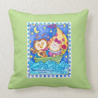 Owl & Pussycat Nursery Pillow