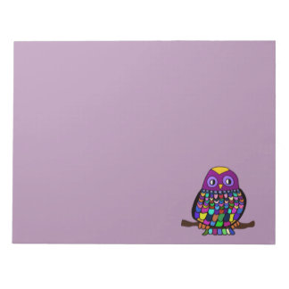 Owl Rainbow Notepad
