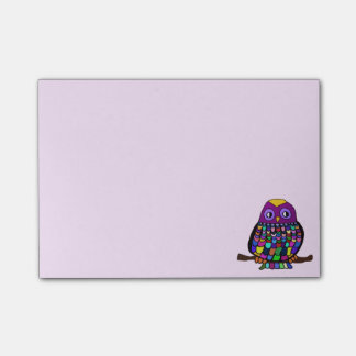 Owl Rainbow Post-it Notes