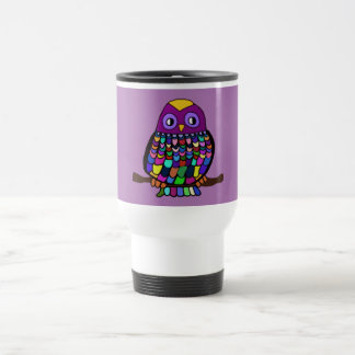 Owl Rainbow Travel Mug