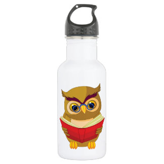 Owl Reading 532 Ml Water Bottle