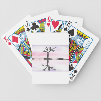 Owl Reflected Bicycle Playing Cards