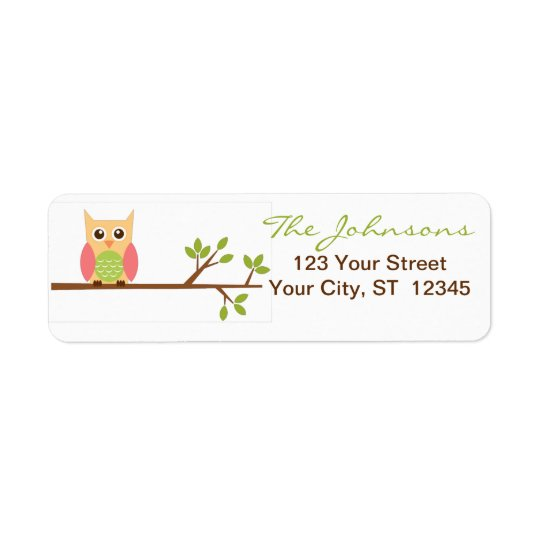 Owl return address labels - small stickers