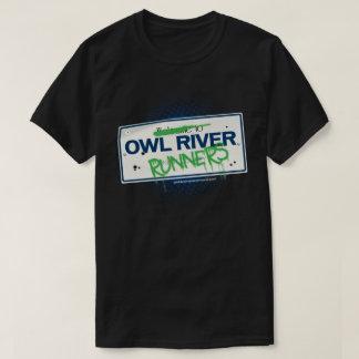 Owl River Runners logo t-shirt (black)