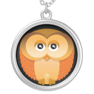 OWL ROUND PENDANT NECKLACE