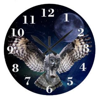 Owl Round Wall Clock
