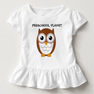 Owl ruffle shirt