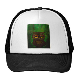 Owl sad eyes cap