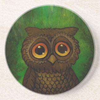 Owl sad eyes coaster