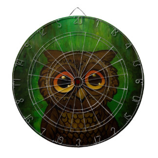 Owl sad eyes dartboard