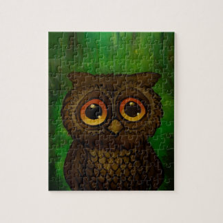 Owl sad eyes jigsaw puzzle