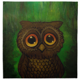 Owl sad eyes napkin