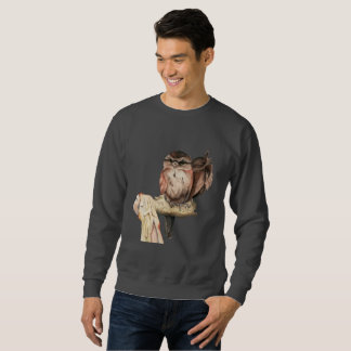 Owl Siblings Watercolor Portrait Sweatshirt