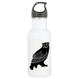 Owl Silhouette 532 Ml Water Bottle
