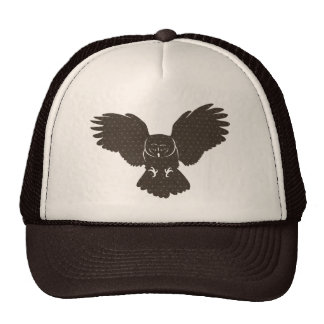Owl Silhouette Lid Cap