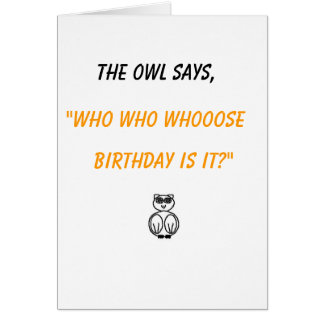 owl & snake say card