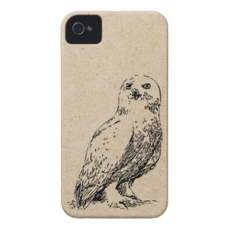owl stamp iPhone 4 case