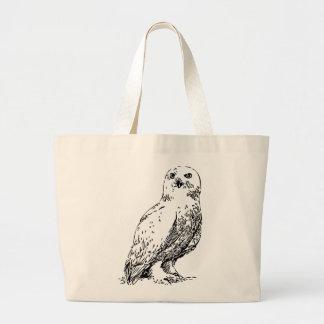 owl stamp jumbo tote bag