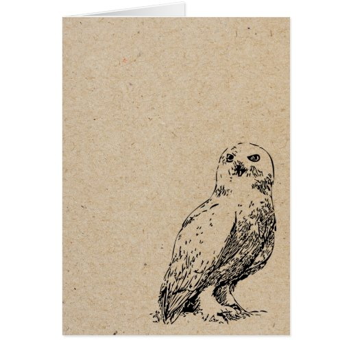 owl stamped card