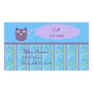 Owl Star Birthday Celebration Pack Of Standard Business Cards