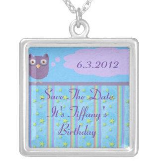 Owl Star Birthday Celebration Necklace