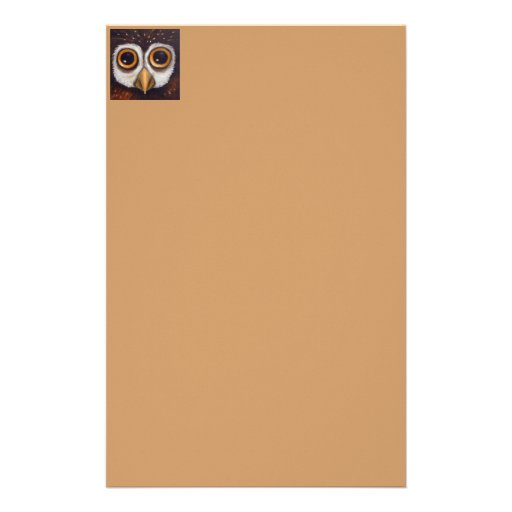 owl stationery paper