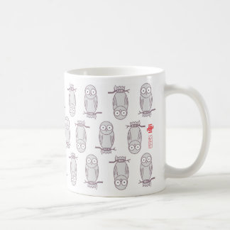 Owl style basic white mug