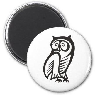 Owl Symbol Black Fridge Magnets