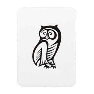 Owl Symbol Black Rectangle Magnet