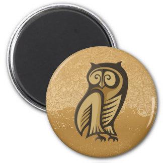 Owl Symbol Color Refrigerator Magnets